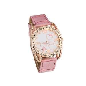 Hello Kitty Analog Girls Kids electronic PU Leather Wrist Watch
