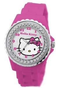 Hello Kitty 24963 Ladies Go Faster Kitty Sport Silver Pink Watch
