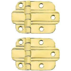 of Solid Brass Art Deco Surface Cabinet Hinges With Choice of Finish