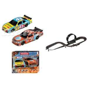 Carrera   1/43 Nascar Slot Car Set, Carrera Go (Slot Cars