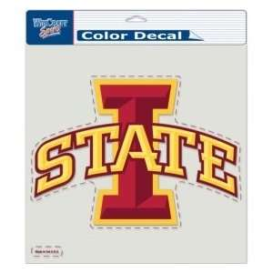 Iowa State Cyclones Die Cut Decal   8x8 Color Sports