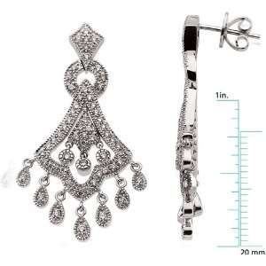 karat white gold Diamond Chandelier Earrings Diamond Designs Jewelry