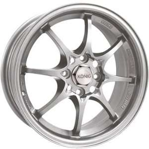 Konig Helium 15x6.5 Silver Wheel / Rim 4x100 with a 40mm Offset and a