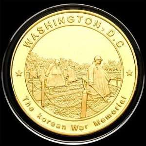 The Korean War Memorial Gold plated Military Coin