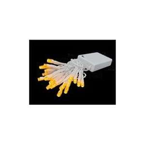 Battery Operated Amber LED Wide Angle Christmas Lights Patio, Lawn