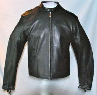 NEW MENS POWER TRIP PERFORATED LEATHER COAT JACKET Clothing