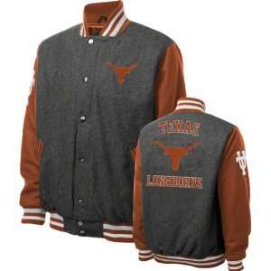 Texas Longhorns Grey Wool Varsity Jacket  Sports