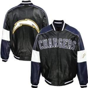 Diego Chargers Black Varsity Faux Leather Jacket