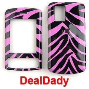 LG SHINE cu720 PINK ZEBRA Case/Faceplate/Snap On/Cover Cell Phones