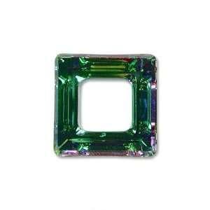 Vitrail Light Swarovski Crystal Square Frame Charm