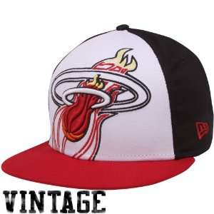 New Era Miami Heat Red White Black Little Big Pop 9FIFTY Snapback