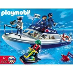 Playmobil Police Boat (3190): Toys & Games