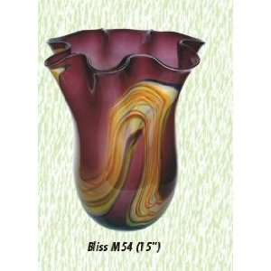 Purple/Orange Bliss Vase Hand Blown Modern Glass Vase