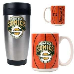 Seattle Sonics NBA Stainless Steel Travel Tumbler & Game ball
