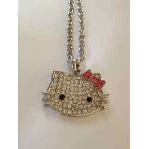 Hello Kitty Crystal Pendant Necklace 18+2 extended