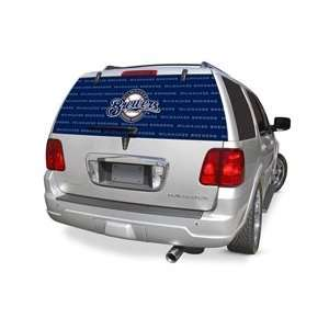 Milwaukee Brewers MLB Logo Rearz Back Windshield Covering by Glass