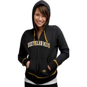 Southern Miss Golden Eagles Womens Nike Black Classic Full Zip Hoodie