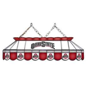 Ohio State Buckeyes 40 MVP Full Size Stained Glass Pool Table Lamp