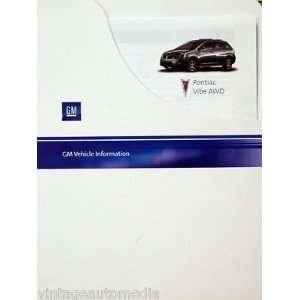 2009 Pontiac Vibe AWD Vehicle Information Packet