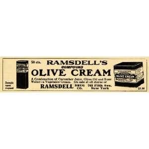 Olive Cream Drug Rose Water Juice   Original Print Ad Home & Kitchen