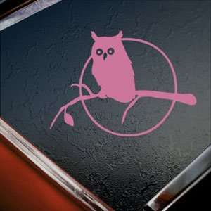 Owl In Tree Pink Decal Car Truck Bumper Window Pink