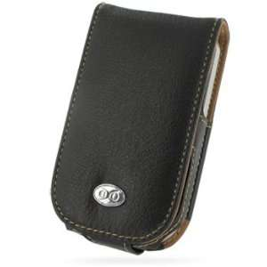 EIXO luxury leather case BiColor for Palm Treo 500v 500 v, Flip Style