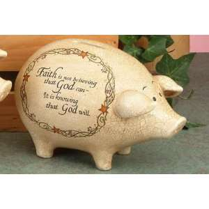 Faith Inspirational Large Piggy Coin Money Bank:  Home