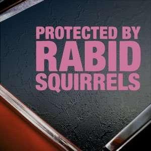 Rabid Squirrels Pink Decal Window Pink Sticker Arts, Crafts & Sewing