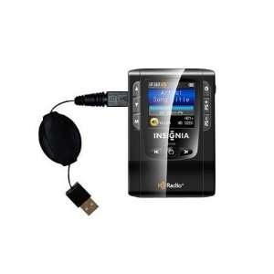 com Retractable USB Cable for the Insignia NS HD01 Portable HD Radio