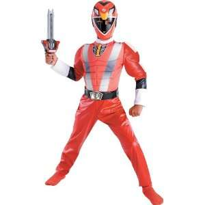 Deluxe Muscle RPM Red Kids Power Rangers Costume : Toys & Games