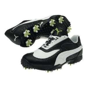 Puma PG SYM Wide Mens Golf Shoe   Black/White/Steel Grey