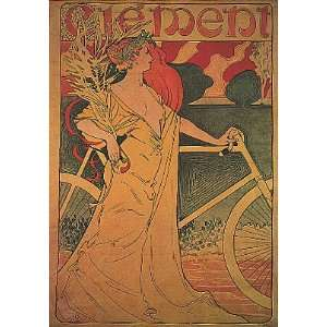 CLEMENT BICYCLE BIKE CYCLES 24 X 36 VINTAGE POSTER REPRO