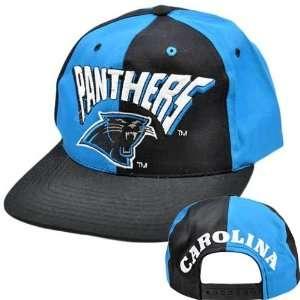 NFL Carolina Panthers Black Blue Vintage Old School Flat Bill Snapback
