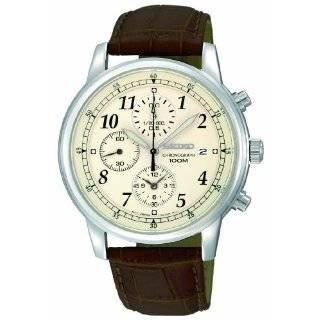 Seiko Mens SNN241 Chronograph Brown Dial Watch Seiko Watches
