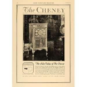 1920 Ad Cheney Talking Machine Period Cabinet Furniture