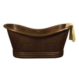 Bateau Double Slipper Tub (Hammered Antique Copper): Home Improvement