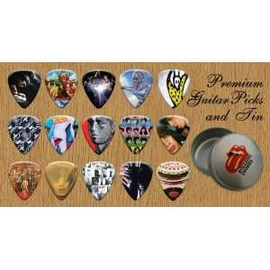 Stones Premium Guitar Picks X 15 In Tin (G) Musical Instruments