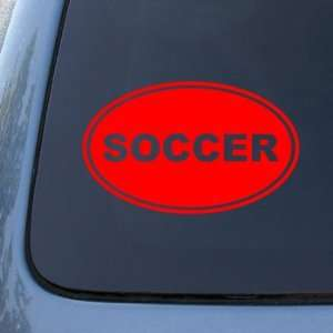 SOCCER EURO OVAL   Football   Vinyl Car Decal Sticker #1745  Vinyl