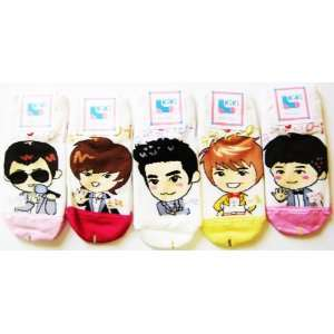 Super Junior 5 Pairs Kpop Socks Featuring Siwon, Heechul