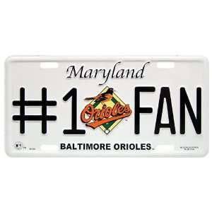 MLB Orioles Metal License Plate