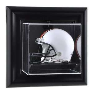 Framed Wall Mounted Mini Helmet Display Case Sports