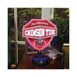 ALABAMA CRIMSON TIDE Team Logo NEON SHIELD TABLE LAMP (13
