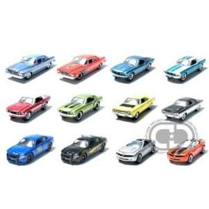 Set of 12 Muscle Car Garage Stock & Custom 1/64 Series 5: Toys & Games