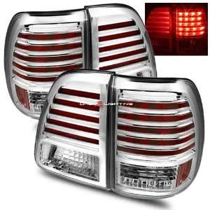 98 05 Toyota Land Cruiser LED Tail Lights   Chrome