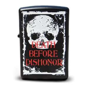 : Death Before Dishonor Black Matte Zippo Lighter: Sports & Outdoors