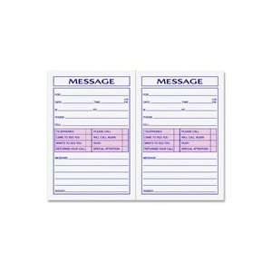Tops Two Part Important Message Book Office Products