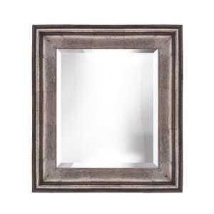 Modern Silver Leaf Bevelled Wall Mirror 24x36