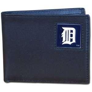 MLB Detroit Tigers Leather Bi fold Wallet  Sports
