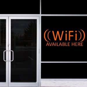 StikEez Orange Large WiFi Available Here Window & Wall