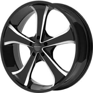 22x9.5 Black Wheel / Rim 6x135 with a 38mm Offset and a 87.10 Hub